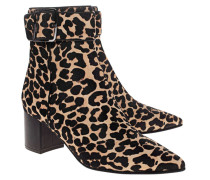 Ankle-Boot mit Leo-Musterung