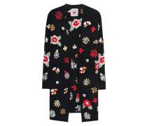 Cardigan mit floralen Stickereien