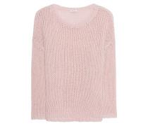 Grobstrick-Pullover mit Effekt-Garn