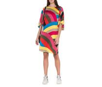 Gestreiftes Kleid mit Flügelärmel
