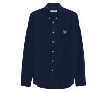Button-Down Hemd mit Logo-Stickerei
