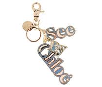 Schlüsselanhänger mit Logo-Schriftzug