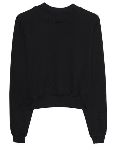 Kurzes Sweatshirt im Destroyed-Look
