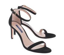 Wildleder-Sandalette mit Fesselriemen