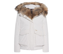 Daunen-Jacke mit Fell-Besatz