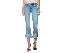 Jeans mit umgeschlagenem Bein