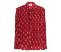 Gepunktete Seiden-Bluse
