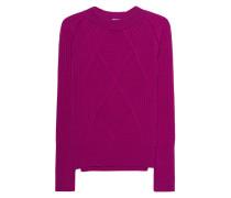 Rippstrick-Pullover mit Rollkragen