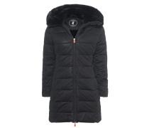 Mantel mit Kunstfell-Besatz