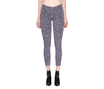 Mid-Rise Skinny Jeans im Leo-Design