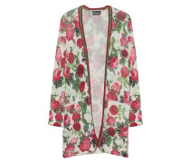 Florales Woll-Mix Cardigan