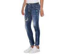 Slim-Fit Destroyed Jeans