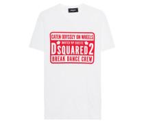 T-Shirt mit rotem Print