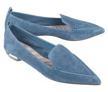 Spitze Veloursleder-Loafers