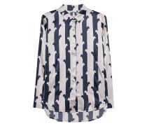 Seiden-Bluse mit Musterung