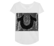 T-Shirt mit Wende-Pailletten