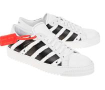 Gestreifter Leder-Sneaker