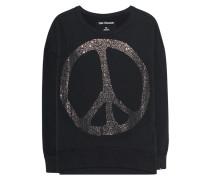 Oversize Sweatshirt mit Strassstein-Verzierung