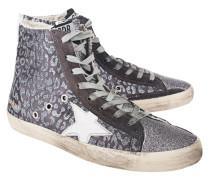 High Top Sneaker mit Glitzer-Details