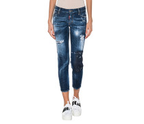 Destroyed Low Waist Skinny Jeans
