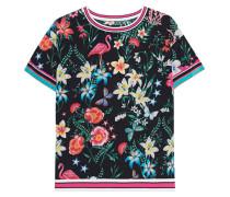 Seiden-Stretch Kurzarm-Bluse