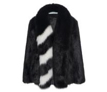 Fake Fur Jacke mit Streifen