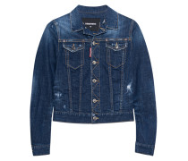 Jeansjacke im Destroyed-Look