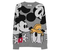 Gemusterter Oversize Pullover