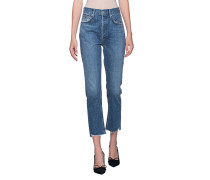 High Waist Straight-Fit Jeans