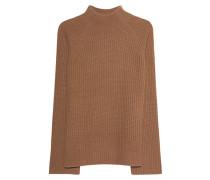 Grobstrick-Pullover mit Stehkragen