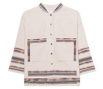 Perlenverzierte Baumwoll-Jacke