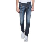 Schmale Jeans mit Ketten-Detail