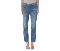Jeans mit Perlen-Verzierung