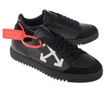 Flache Leder-Sneaker mit Applikation