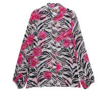 Gemusterte Bluse im Zebra-Design