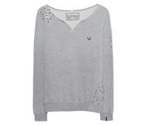 Destroyed Sweatshirt mit Perlen