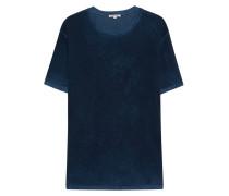 Meliertes Baumwoll-T-Shirt im Burn-Out-Look