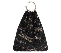 Veloursleder-Tasche mit Schmucksteinen