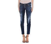 Skinny-Jeans im Destroyed-Look