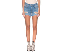 Low-Waist Destroyed Jeans-Shorts