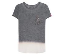 T-Shirt mit Strass-Verzierung