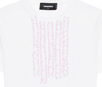 Baumwoll-T-Shirt mit Rüschen