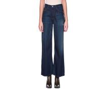 Jeans-Culottes mit Destroyed Details