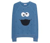 Bedrucktes Destroyed Sweatshirt