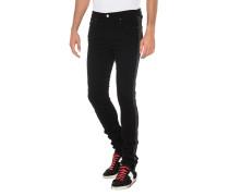 Slim-Fit Jeans mit Glitter-Streifen