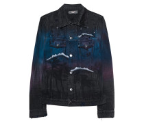 Destroyed Jeansjacke mit Glitter-Finish