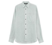 Leinen-Hemd mit Brusttasche