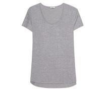 T-Shirt mit offenem Saum