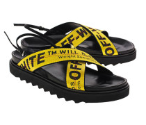 Sandale mit Label-Schriftzügen