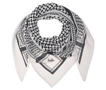 Kaschmir-Schal mit Print  // Triangle Trinity M Off-White
